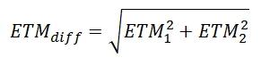 Formule ETMdiff
