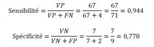 Formules exemples sensi+spec